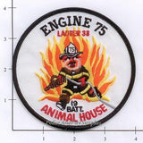 New York City Engine  75 Ladder 33 Battalion 19 Fire Patch v3 round