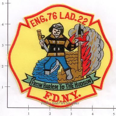New York City Engine  76 Ladder 22 Fire Patch v1