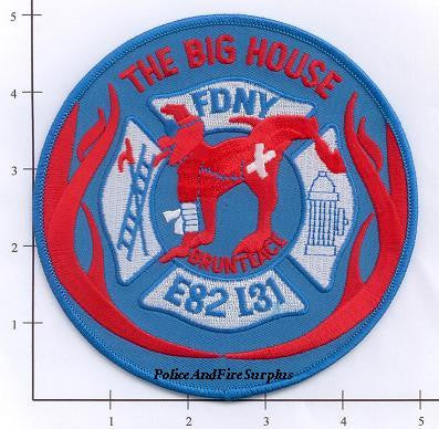 New York City Engine  82 Ladder 31 Fire Dept Patch v3 Brunteace