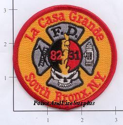 New York City Engine  82 Ladder 31 Fire Dept Patch v4 Red & Yellow