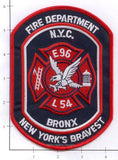 New York City Engine  96 Ladder 54 Fire Patch v5