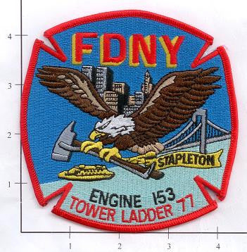 New York City Engine 153 Ladder 77 Fire Patch v4
