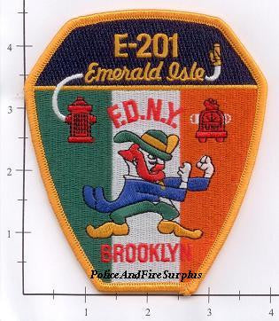 New York City Engine 201 Fire Patch v7 Emerald Isle