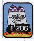 New York City Engine 206 Fire Patch v2 Purple