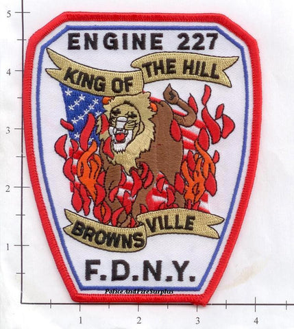 New York City Engine 227 Fire Dept Patch v5