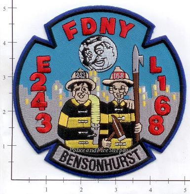 New York City Engine 243 Ladder 168 Fire Patch v9 Honeymooners