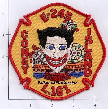 New York City Engine 245 Ladder 161 Battalion 43 Fire Dept Patch v11