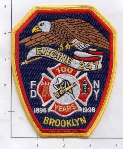 New York City Engine 247 Fire Patch v5 Anniversary
