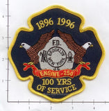 New York City Engine 250 Fire Patch v8 Anniversary