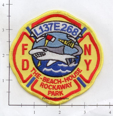 New York City Engine 268 Ladder 137 Fire Patch v6 Yellow