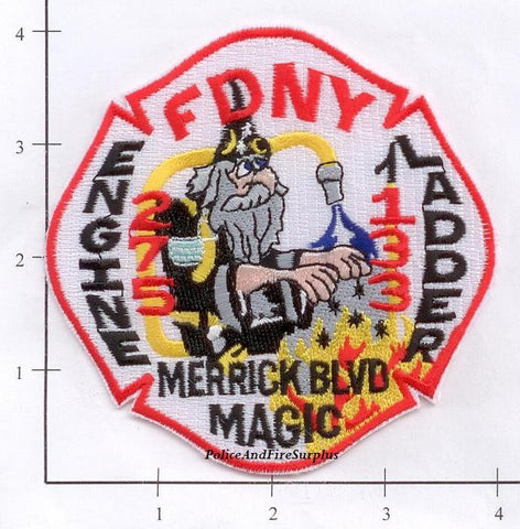 New York City Engine 275 Ladder 133 Fire Dept Patch v3