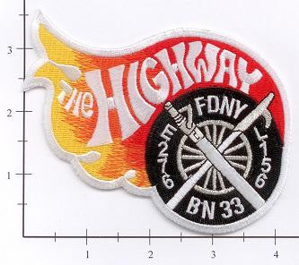New York City Engine 276 Ladder 156 Battalion 33 Fire Patch v3 Wheel