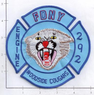 New York City Engine 292 Fire Patch v3 Blue