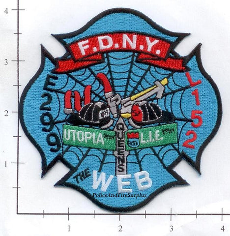 New York City Engine 299 Ladder 152 Fire Dept Patch v6 Web