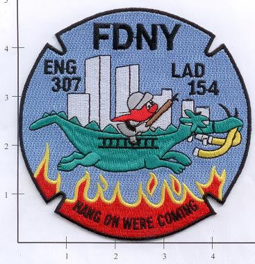 New York City Engine 307 Ladder 154 Fire Dept Patch v1