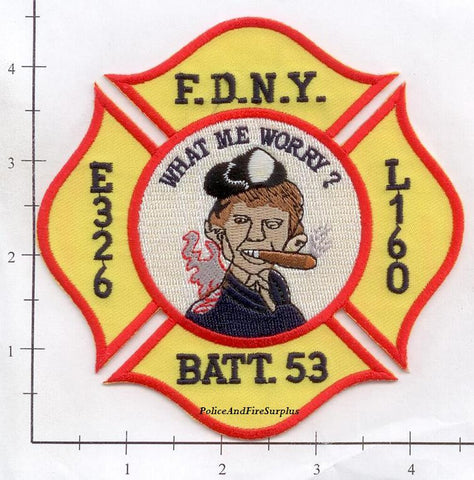 New York City Engine 326 Ladder 160 Battalion 53 Fire Patch v1