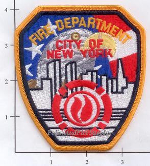 New York City Shoulder Patch Red, White & Blue with Eagle No Date