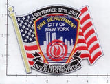 New York - New York City Fire Dept Patch WTC 9-11 patch v6 - In Memory of Our Fallen Brothers On Flag