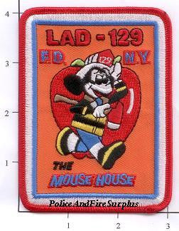 New York City Ladder 129 Fire Patch v1 Mouse House
