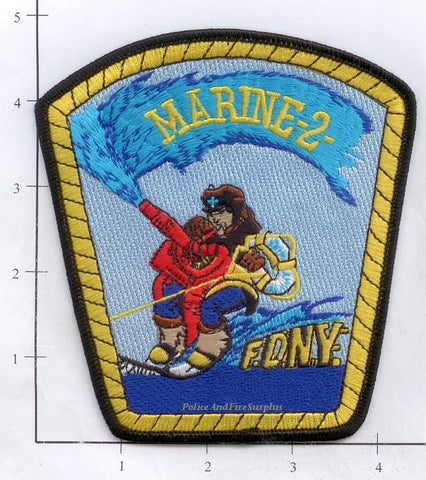 New York City Marine 2 Fire Dept Patch v5 Surfing Fireman