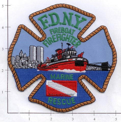 New York City Marine 9 Fire Dept Patch v4