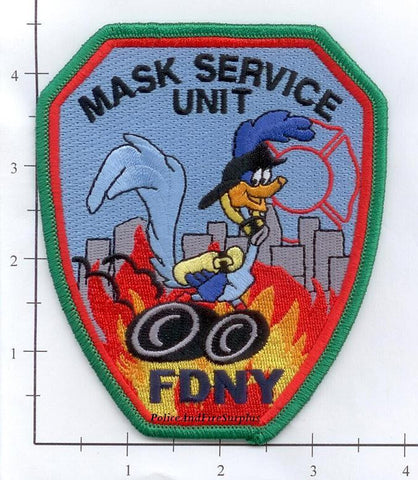 New York City Mask Service Unit Fire Patch v6 - Red Maltese