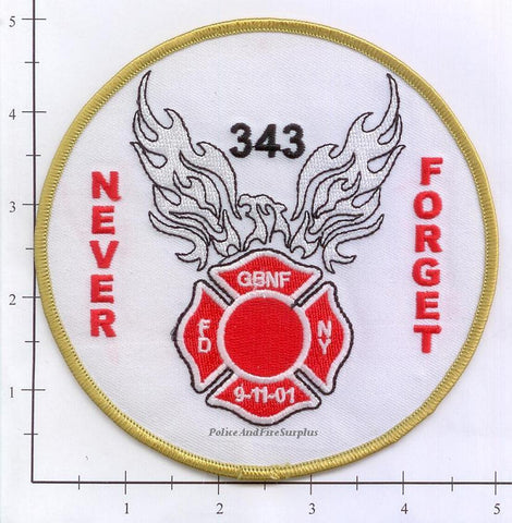 New York City Never Forget - Gone But Not Forgotten Fire Dept Patch