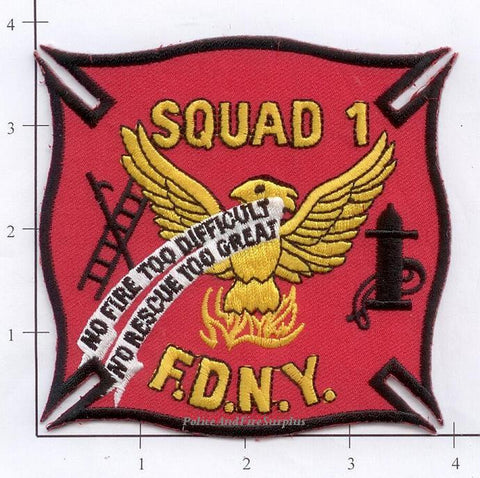 New York City Squad   1 Fire Patch v2 red