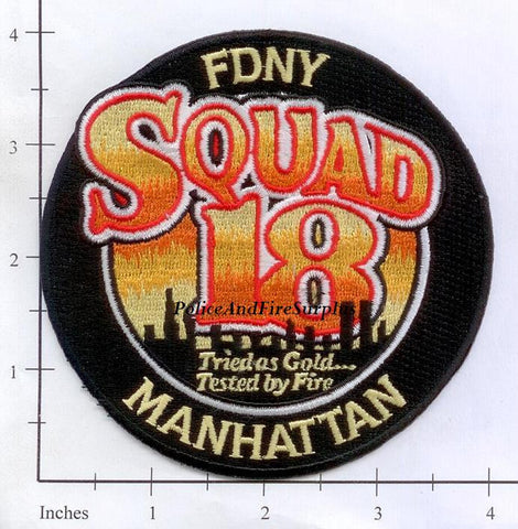 New York City Squad  18 Fire Patch v11 Capital Letters