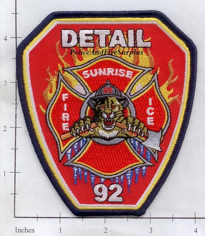Florida - Sunrise Detail 92 Fire Dept Patch