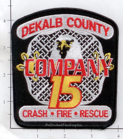 Georgia - Dekalb County Company 15 Fire Dept Patch v2