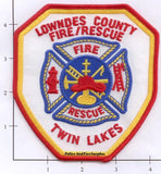 Georgia - Lowndes County Fire Rescue Fire Dept Patch v1