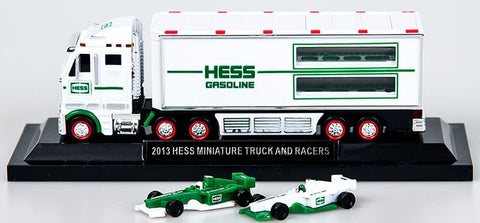 2013 Hess  Miniature 18-Wheeler Truck and Racecars