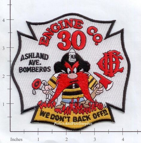 Illinois - Chicago Engine  30 Fire Dept Patch