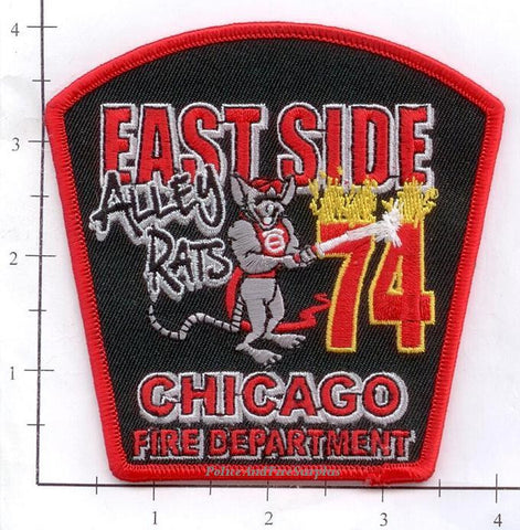 Illinois - Chicago Engine  74 Fire Dept Patch