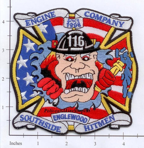 Illinois - Chicago Engine 116 Fire Dept Patch v1
