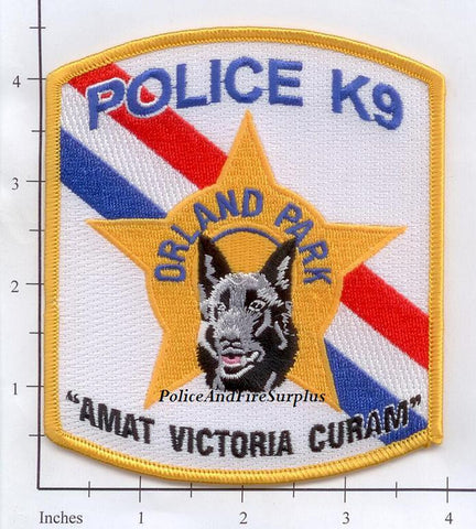 Illinois - Orland Park K-9 Police Dept Patch
