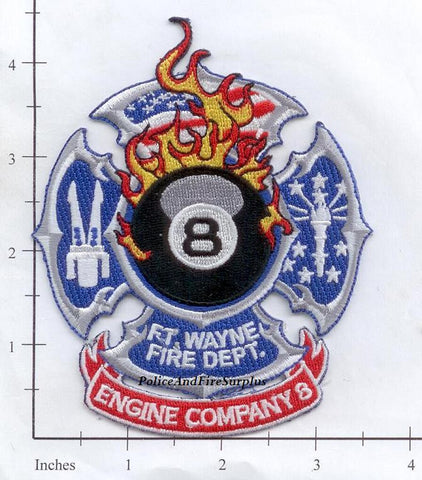 Indiana - Fort Wayne Engine  8 Fire Dept Patch