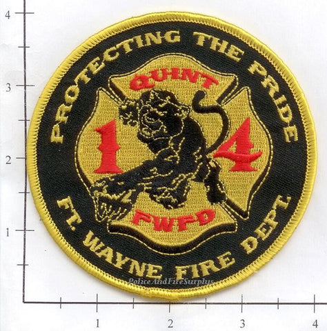 Indiana - Fort Wayne Quint 14 Fire Dept Patch