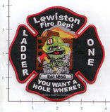 Maine - Lewiston Truck 1 Fire Dept Patch