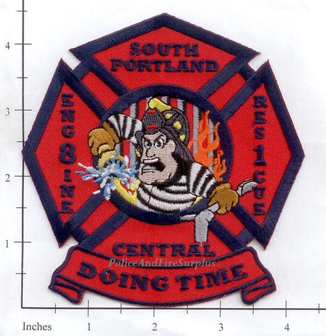 Maine - South Portland Engine 8, Rescue 1 Fire Dept Patch