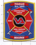 Maine - Togus Veteran's Administration Fire Patch