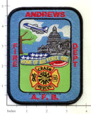 Maryland - Andrews Air Force Base Crash Rescue Fire Dept Patch