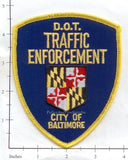 Maryland - Baltimore City Police Dept Traffic Enforcement Patch