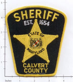 Maryland - Calvert County Sheriff Patch v1 black