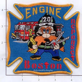Massachusetts - Boston Engine  20 Fire Dept Patch v1