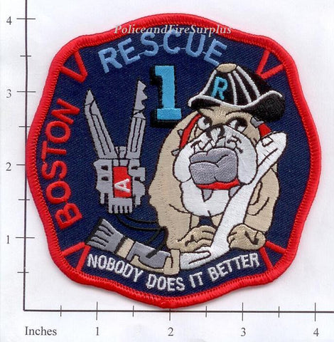 Massachusetts - Boston Rescue 1 Fire Dept Patch v2
