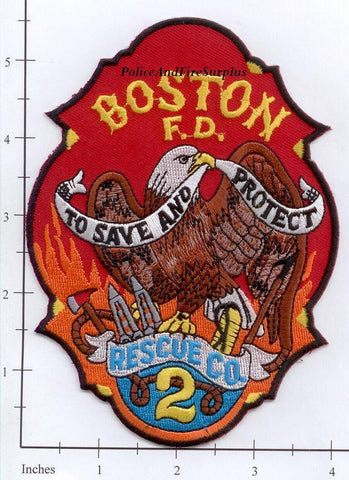 Massachusetts - Boston Rescue 2 Fire Dept Patch v3