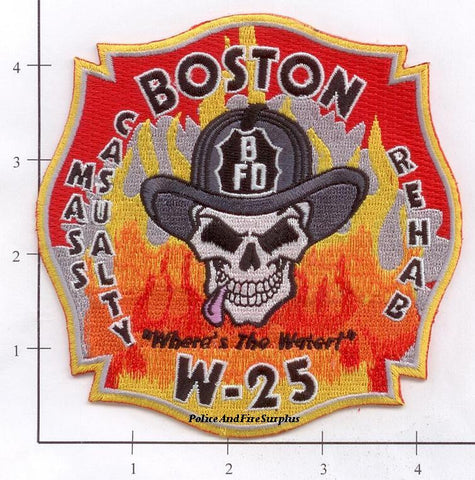 Massachusetts - Boston W-25 Mass Casualty Rehab Fire Dept Patch
