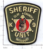 Missouri -  Clay County Sheriff K-9 Police Dept Patch